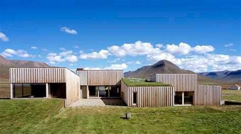 sustainable house  iceland grass topped house