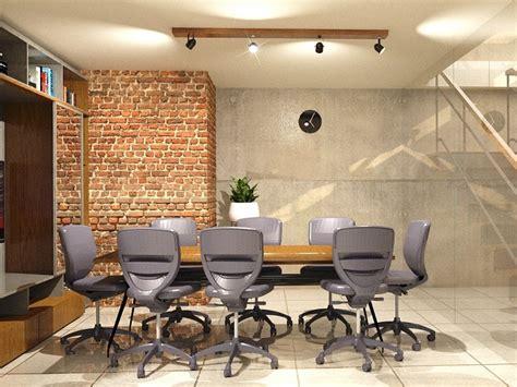 inspirasi desain interior ruang kerja industrial
