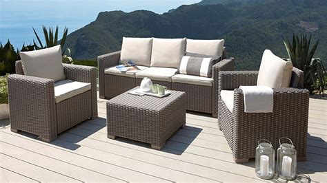 Gadget Des Tages 4teiliges Garten Lounge Set In Rattanoptik