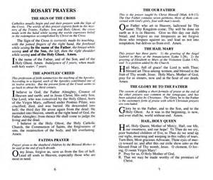 Catholic Rosary Prayers Words