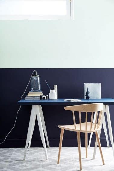 peinture pour bureau peinture bureau couleur bleu et blanc