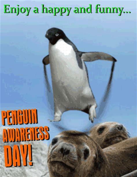 penguin jump rope penguin awareness day ecards greeting cards