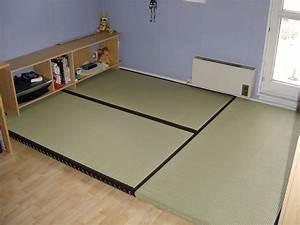 Lit Cabane Au Sol : tatamis pas cher ~ Premium-room.com Idées de Décoration