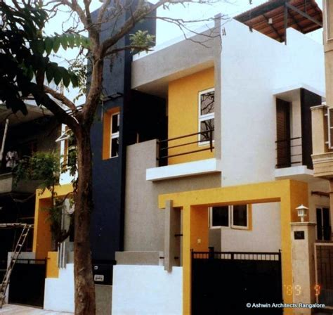 home exterior design in bangalore front elevation house design by ashwin architects