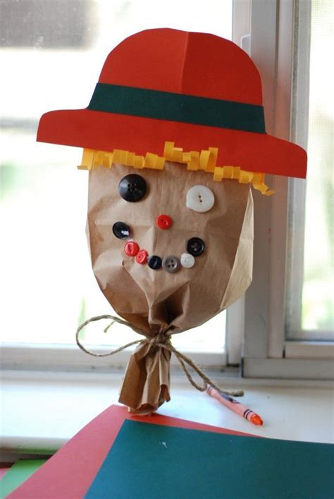 fall  halloween speech therapy activities paper bag