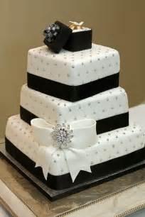 black and white wedding cake black white silver weddings black white wedding cake with fondant bow ring box edible