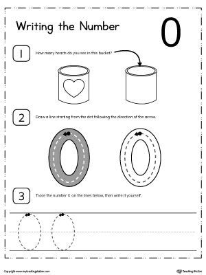 learn to count and write number 0 worksheets count and