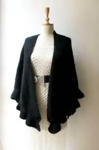 wedding dress wrap black bridal shawl wedding wrap wedding black by crochetbutterfly