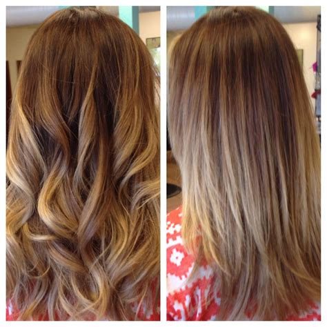 Brown Hair With Yellow Highlights by Balayage Highlights With Color Correction From Brassy