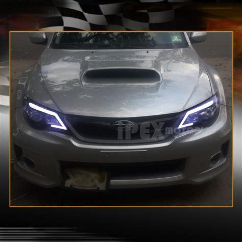 shiny black 2008 2014 subaru impreza wrx projector glow