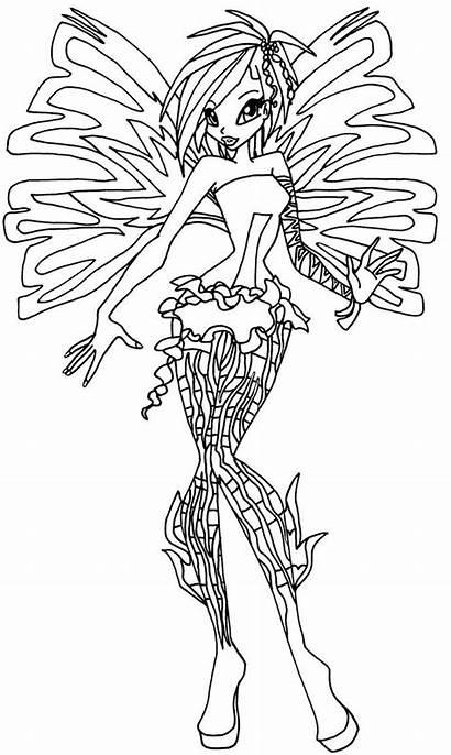 Winx Sirenix Tecna Colorare Coloring Dreamix Disegni