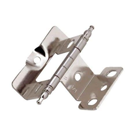 amerock cabinet hinge parts amerock full inset minaret tip hinge sterling nickel