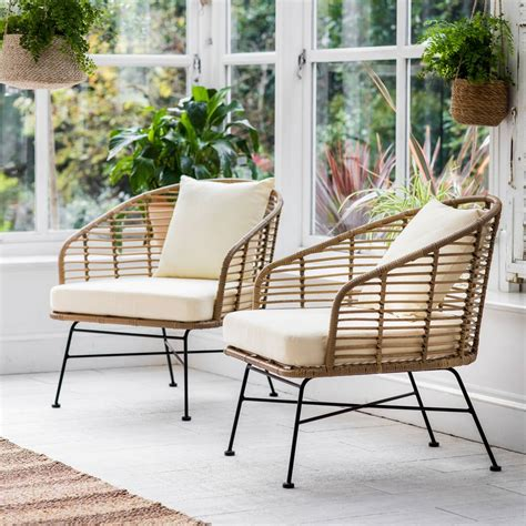 Garden Chair Set by Set Of Two Bamboo Garden Chair By The Forest Co
