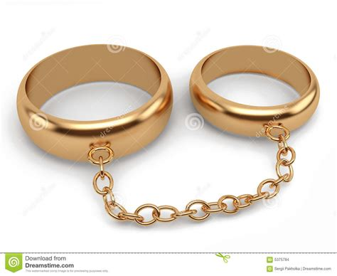 wedding rings connected chain stock images image 5375784