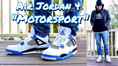 HOW TO STYLE - AIR JORDAN RETRO 4 IV u0026quot;MOTORSPORTu0026quot; - ON FEET u0026 OUTFIT - YouTube
