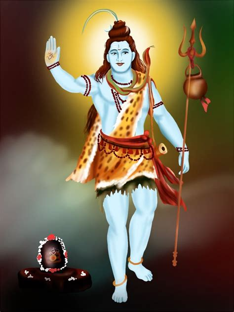 step  step   draw lord shiva standing