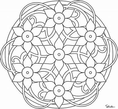 Mandala Coloring Pages Printable Mandalas Spring Adults