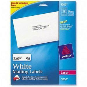 avery dennison address labels 1 inch x 2 62 inch 25 sheet