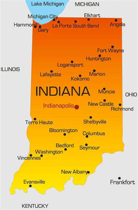 indiana map guide   world