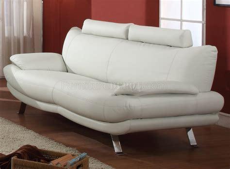 White Full Bonded Leather Modern Sofa Woptional Chair