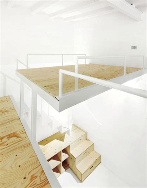 split level loft suspended bedroom stair storage
