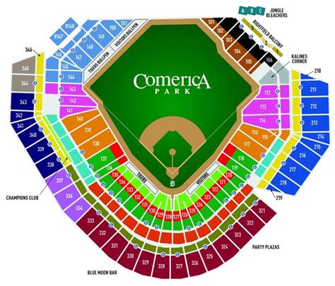 Comerica Park Seating Chart- Detroit Tigers - In Play ...