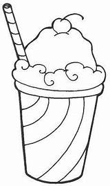 Coloring Pages Food Drink Summer Ice Cream Stuff Kitchen Adult Cocktail Items Drawings Colouring Printable Icecream Junk Beverage Print Festmenyek sketch template