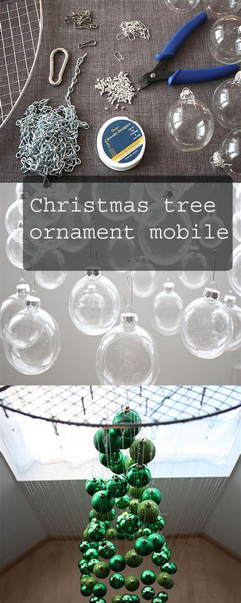 christmas tree ornament mobile 40 frugal and festive diy dollar christmas 3301