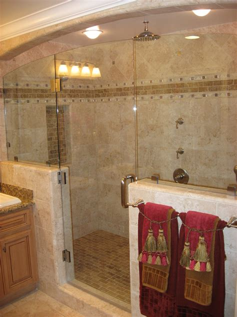tile bathroom shower  design ideas home trendy