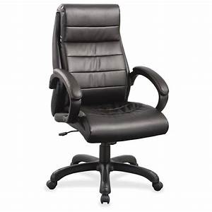 Lorell, Deluxe, High-back, Leather, Chair, -, Leather, -, Leather, -, 5-star, Base