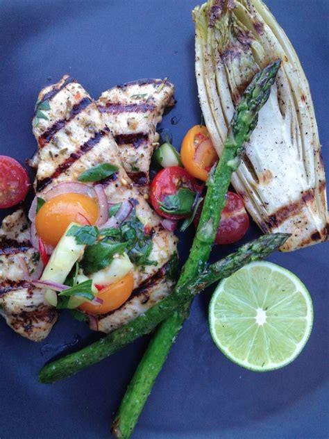 grilled chicken paillard  tomato herb salad eyeswoon