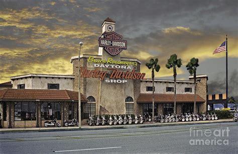 Harley Davidson Shop by Daytona Harley Davidson Shop Photograph By Richard Nickson