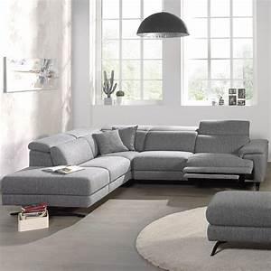 Canapé De Salon : canap angle relaxation electrique sofamobili ~ Teatrodelosmanantiales.com Idées de Décoration