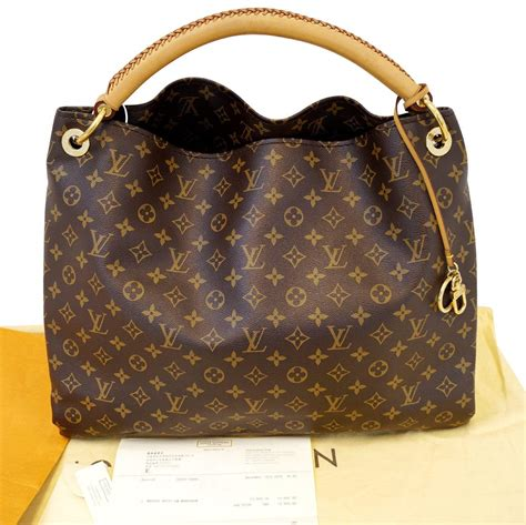 authentic louis vuitton monogram artsy gm tote hobo handbag limited