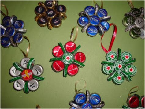 top  upcycled bottle cap diy christmas ornaments top