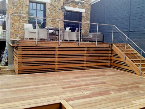 garde corps pour terrasse exterieur rambarde en bois pas cher