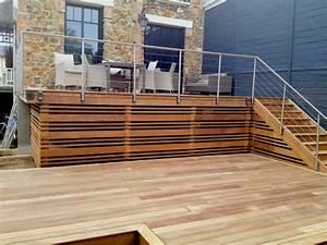garde corps inox sur terrasse en assamela terrasse With garde corps inox terrasse