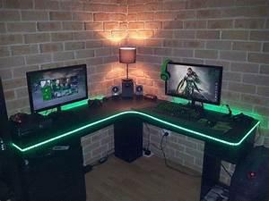 Gaming Zimmer Ideen : 81 besten gamer zimmer bilder auf pinterest b ros computer und arbeitszimmer ~ Markanthonyermac.com Haus und Dekorationen