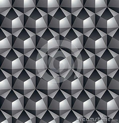 futuristic continuous black  white pattern illusive