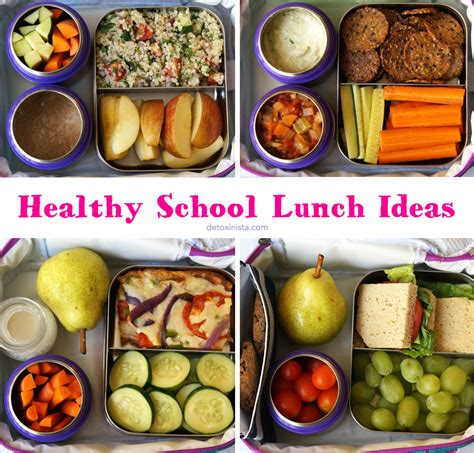 ideas for lunches healthy school lunch ideas detoxinista