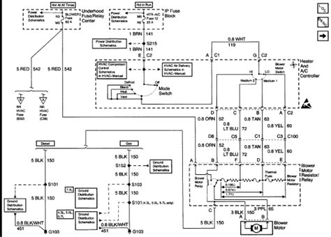 Trailer Wiring Diagram 1997 Chevy 1500 by Looking For A Wiring Diagram For The Blower Motor For A