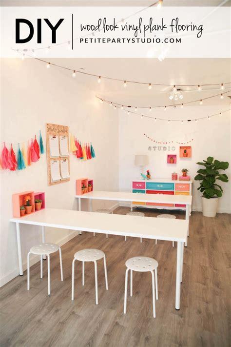 DIY Wood Look   Allure Vinyl Plank Flooring   Petite Party