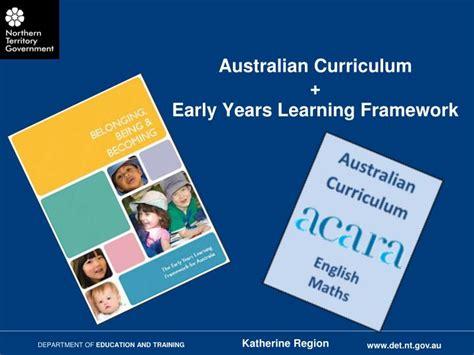 australian curriculum early years learning