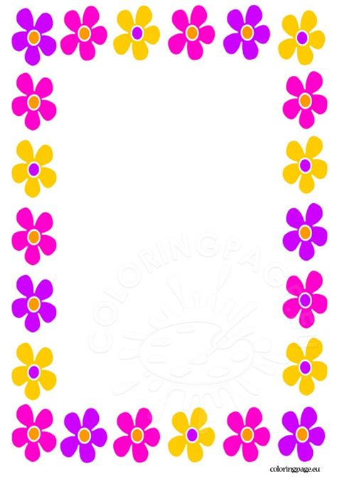 mothers day border coloring page