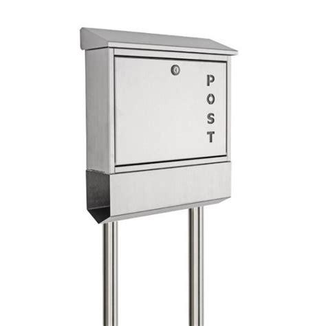 briefkasten freistehend edelstahl edelstahl briefkasten freistehend mit zeitungsfach quot post2