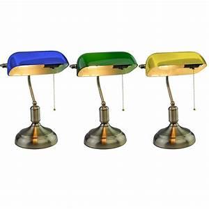 Lampenschirme Für Tischleuchten Vintage : vintage tischlampe mit glasschirm f r ihr arbeitszimmer vt 7151 ~ Bigdaddyawards.com Haus und Dekorationen