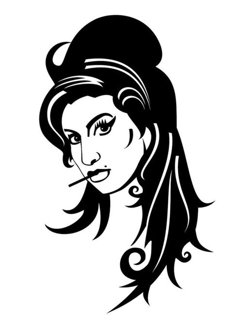 coloring page amy winehouse img