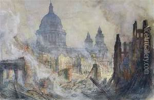 The Aftermath Of The Blitz, St. Paul's Cathedral oil ...
