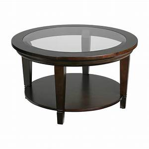 Round glass coffee table for Glass top circle coffee table