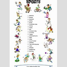 Sports Vocabulary Exercises  Departamento De Educación Física En Ies Villa De Setenil En